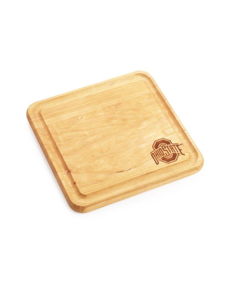 Warther Boards 9x9 Ohio State Maple Engraved Cutting Board