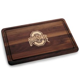 Warther Boards 18x12 Ohio State Walnut Athletic O Cutting Board