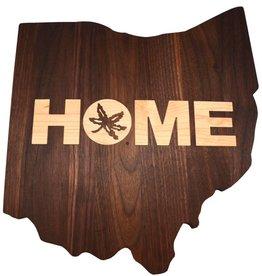 Warther Boards Ohio State Walnut Home Inlay Cutting Board