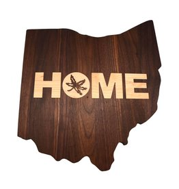 Warther Boards Ohio State Walnut Home Inlay Cutting Board