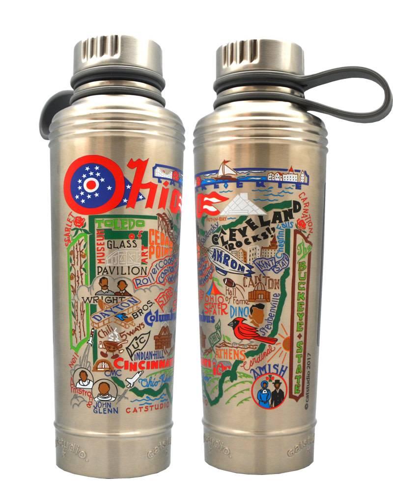 Catstudio State of Ohio Thermal Water Bottle