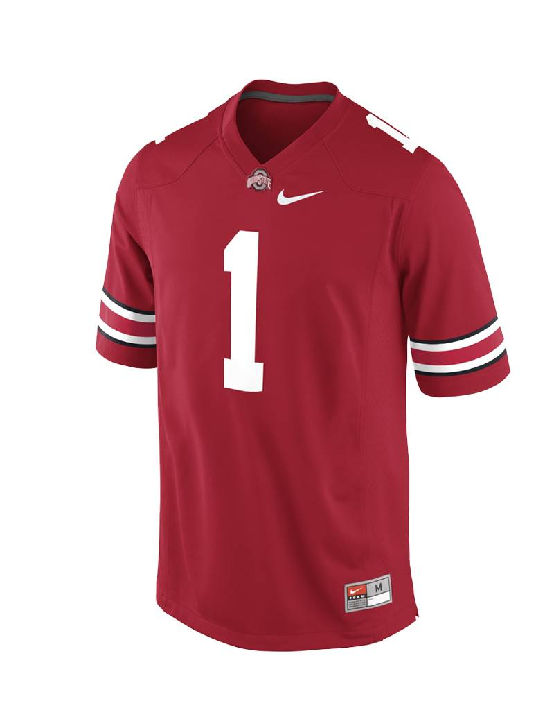 Nike Ohio State University Men's Replica # 1 Jersey