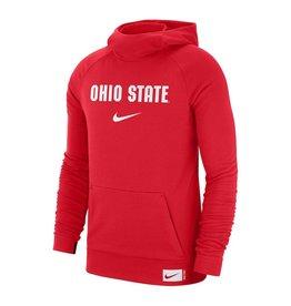 Nike Ohio State Buckeyes Nike Retro Wordmark Performance Pullover Hoodie