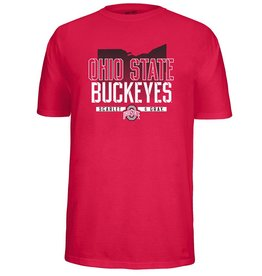 Top of the World Ohio State University Scarlet & Gray Tee