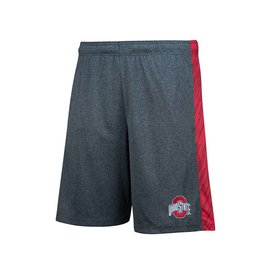 Top of the World Ohio State University Heathered Gray/Scarlet Diamond Shorts
