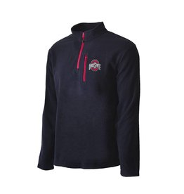 Top of the World Ohio State Buckeyes Black Fleece 1/4-Zip Pullover Jacket