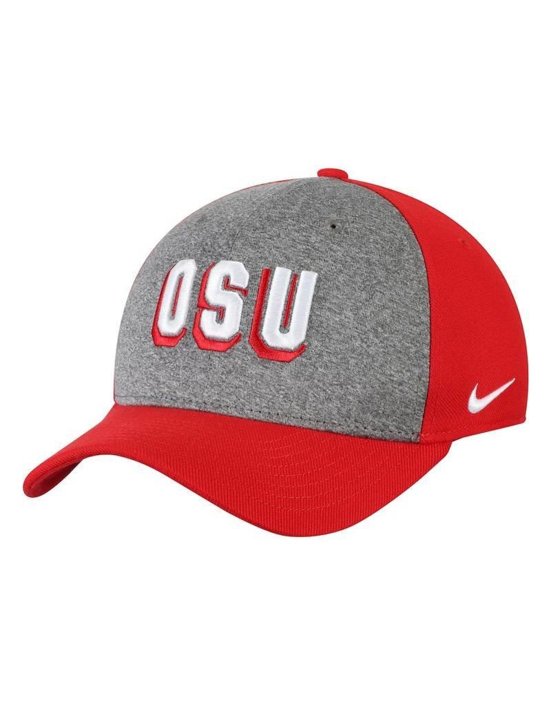 Nike Ohio State Buckeyes Nike Wordmark Swoosh Performance Flex Hat