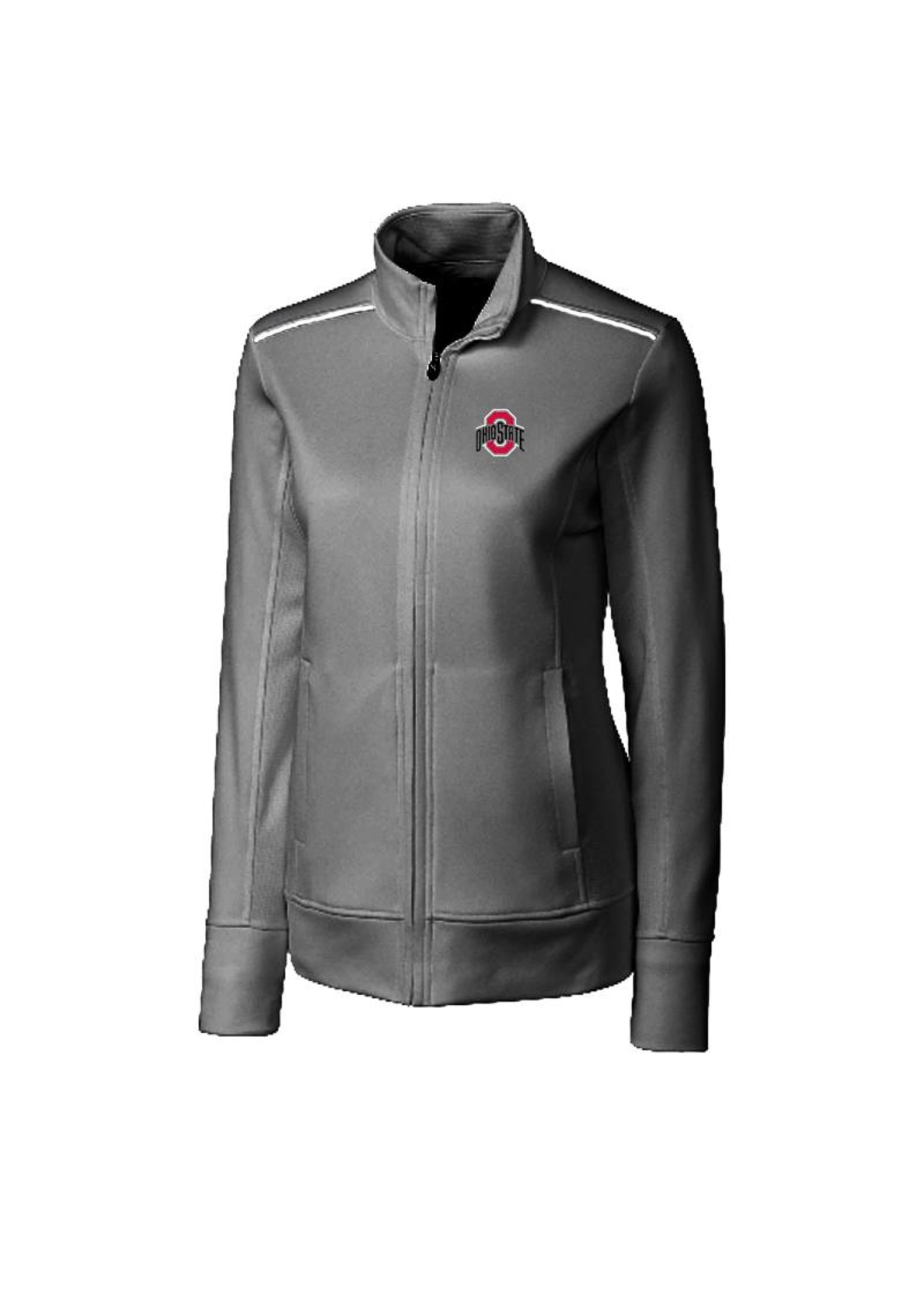 Cutter & Buck Ohio State University Women's Weathertec Ridge Full Zip Jacket
