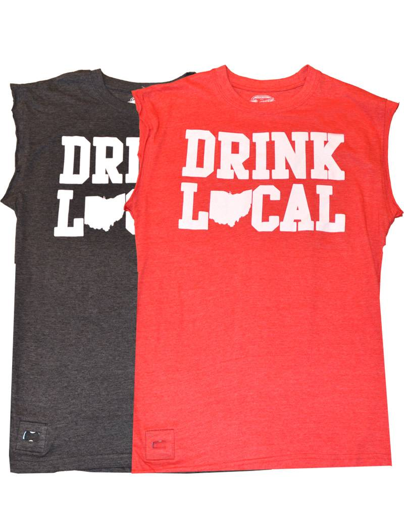 Drink Local Ohio Pop Top Cut-Off Shirt