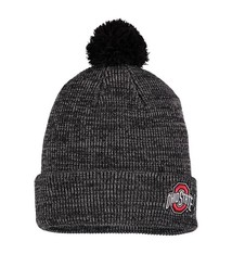 Nike Ohio State Buckeyes Cuffed Knit Hat with Pom - Heathered Black