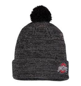 Nike Ohio State Buckeyes Cuffed Knit Hat with Pom - Heathered Black