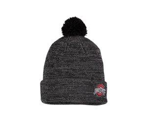 813f49ed6c2 Ohio State Buckeyes Cuffed Knit Hat with Pom - Heathered Black - Everything  Buckeyes