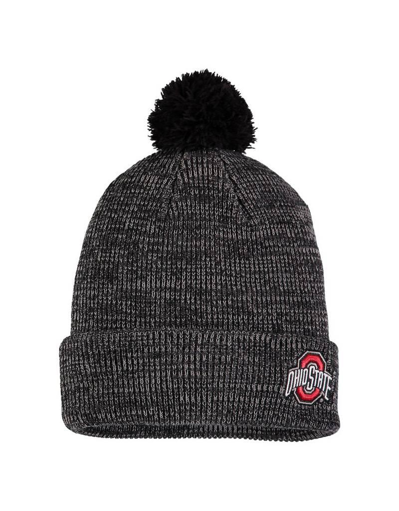 lowest price b993c e020d ... 50% off nike ohio state buckeyes cuffed knit hat with pom heathered  black 1dba1 c3621 ...