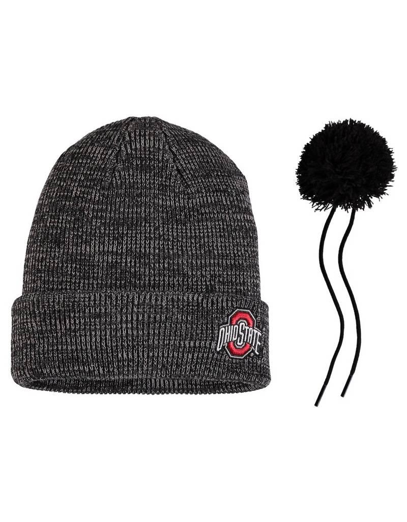 b26018dbf687ca ... 50% off nike ohio state buckeyes cuffed knit hat with pom heathered  black 15ca5 fdb54