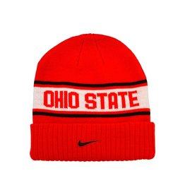 Nike Ohio State University Sideline Cuffed Knit Hat