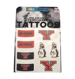 Youngstown State University 8 Pack Temp Tattoos