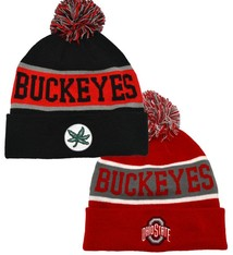 Top of the World Ohio State Buckeyes Team Cuffed Knit Hat with Pom