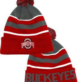Top of the World Ohio State Buckeyes TOW  Cuffed Pom Knit Hat