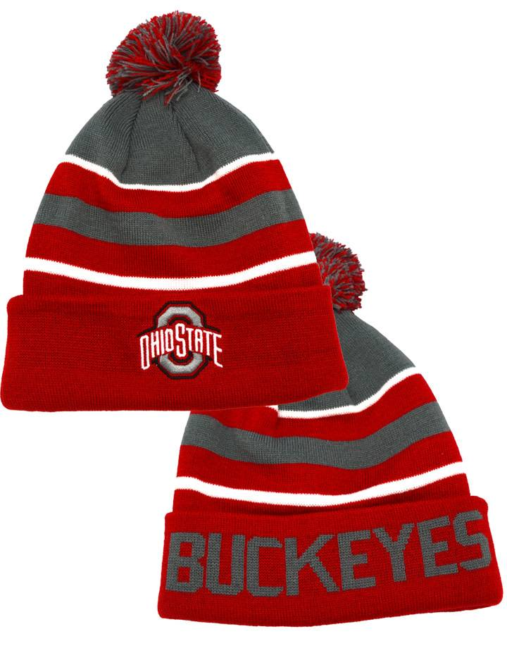 hot sale online 087b8 2a0a9 ... where to buy top of the world ohio state buckeyes tow cuffed pom knit  hat f43ff ...