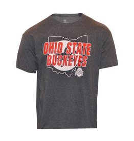 Top of the World Ohio State Buckeyes Leaf State Outline Tee