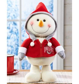 Ohio State Buckeyes Happy Hoodie Snowman