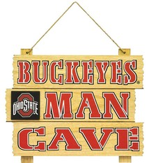 Ohio State Buckeyes Wooden Man Cave Sign