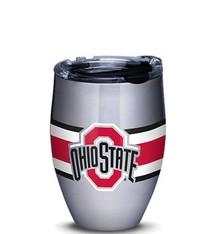 Ohio State Buckeyes Stripes 12oz Stainless Steel Tumbler