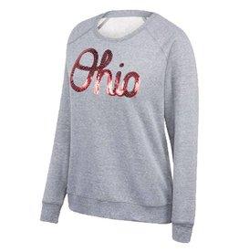 Top of the World Ohio State Buckeyes Women's Bling Tri-blend Sweatshirt