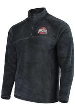 Top of the World Ohio State Buckeyes Charcoal Fleece Pullover Jacket