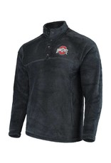 Top of the World Ohio State Buckeyes Charcoal Fleece Pullover Jacket