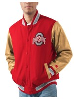 Ohio State Buckeyes Letterman Varsity Wool & Leather Full Snap Jacket
