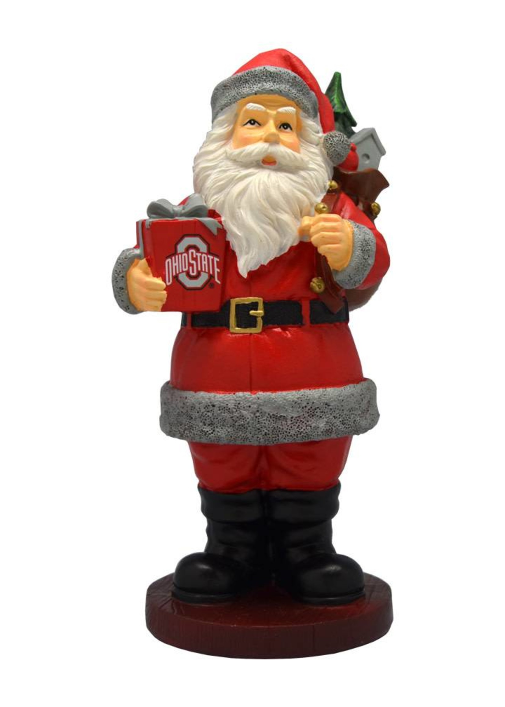 Ohio State Santa with Gift Figurine