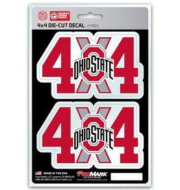 Ohio State Buckeyes 4x4 Decal 2 Pack