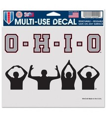 Wincraft Ohio State Buckeyes 5x6 O-H-I-O Multi Use Decal