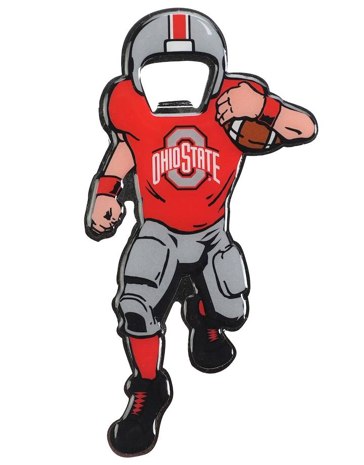 Ohio State Buckeyes Full Player Bottle Opener Metal Magnet