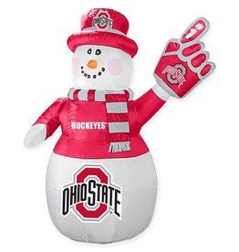 Ohio State Buckeyes 7ft LED Inflatable Snowman