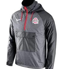 Nike Ohio State University Anorak Pullover Jacket