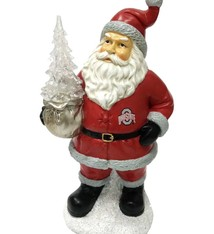 Ohio State Buckeyes Santa with LED Tree Figurine