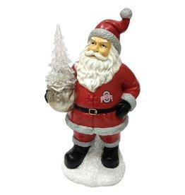 Ohio State Buckeyes Santa with LED Tree Figurine