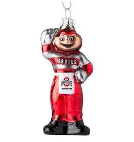Ohio State Buckeyes Blown Glass Ornament