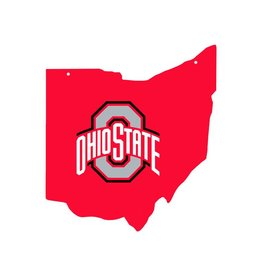 Ohio State Buckeyes MDF State Map Ornament