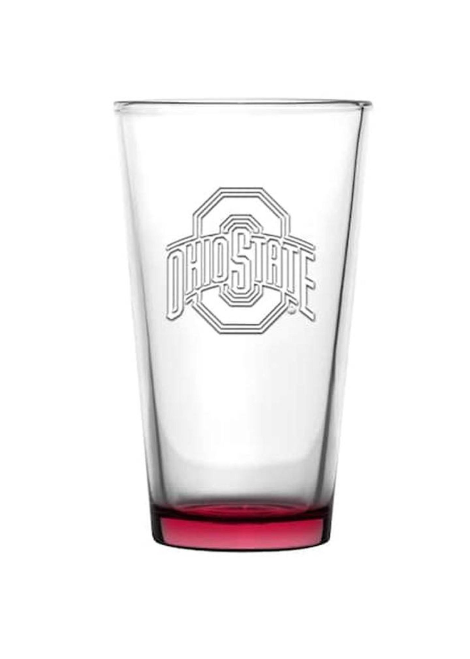 Ohio State Buckeyes 16oz Embossed Pint Glass