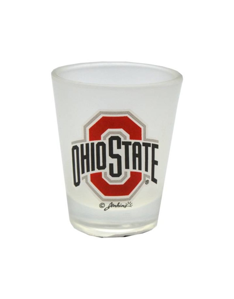 Ohio State University Athletic O Frosted Shot Glass