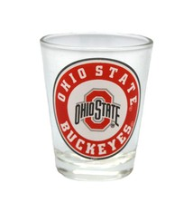 Ohio State University Bullseye Shot Glass