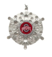 Ohio State Buckeyes Plastic Snowflake Ornament