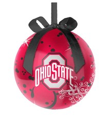 Ohio State Buckeyes Decoupage Ball Ornament