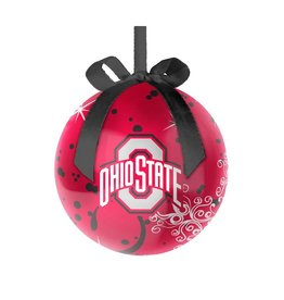 Ohio State Buckeyes Decoupage Ball Ornament