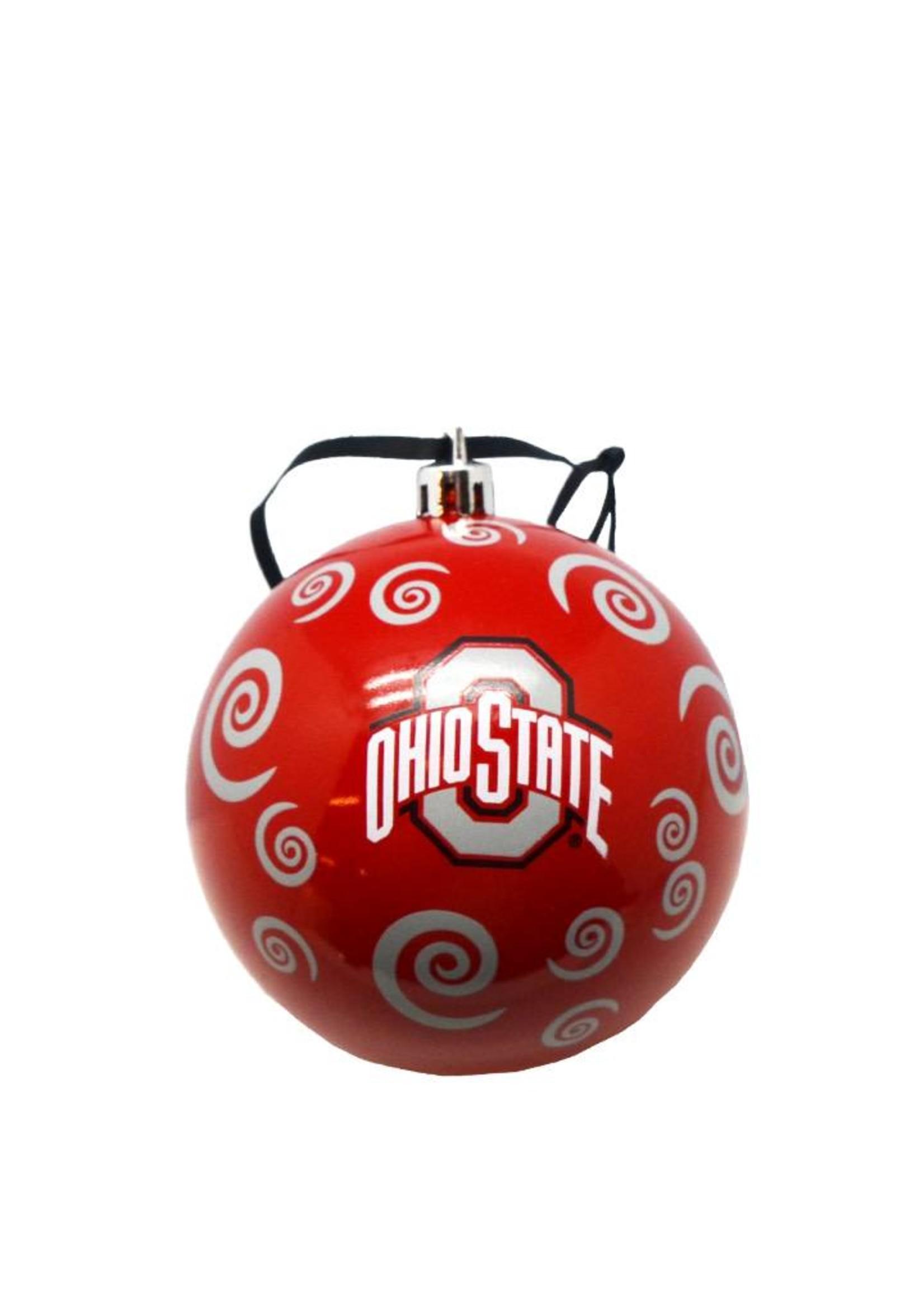 Ohio State Buckeyes Team Swirl Ball Ornament