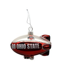 Ohio State Blimp Blown Glass Ornament