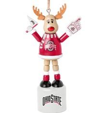 Ohio State Buckeyes Reindeer Ornament